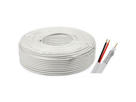 Cablu coaxial CCA RG6 + 2X0,75 alimentare 100M Safer 0