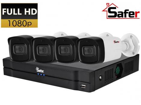 Sistem supraveghere FULL HD Safer, IR 80M, metal, lentila 3.6 mm 0
