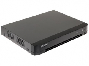 Dvr 4 canale, 5 Megapixeli, 4 intrari audio, Audio over Coax, H265+ DS-7204HUHI-K1(S)0
