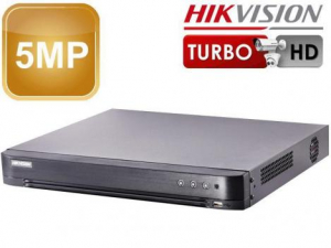 Dvr 4 canale, 5 Megapixeli, 4 intrari audio, Audio over Coax, H265+ DS-7204HUHI-K1(S)1