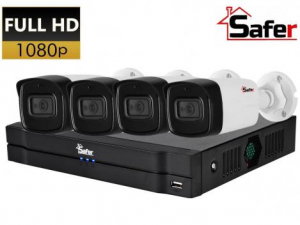 Sistem supraveghere FULL HD Safer, IR 80M, metal, lentila 3.6 mm0