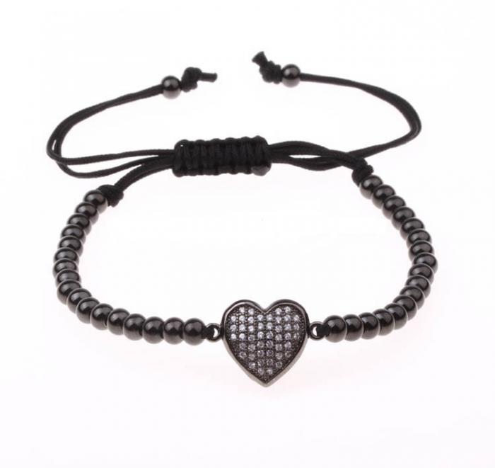 Bratara handmade cu charm inima [3]