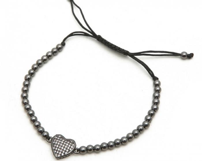 Bratara handmade cu charm inima [4]