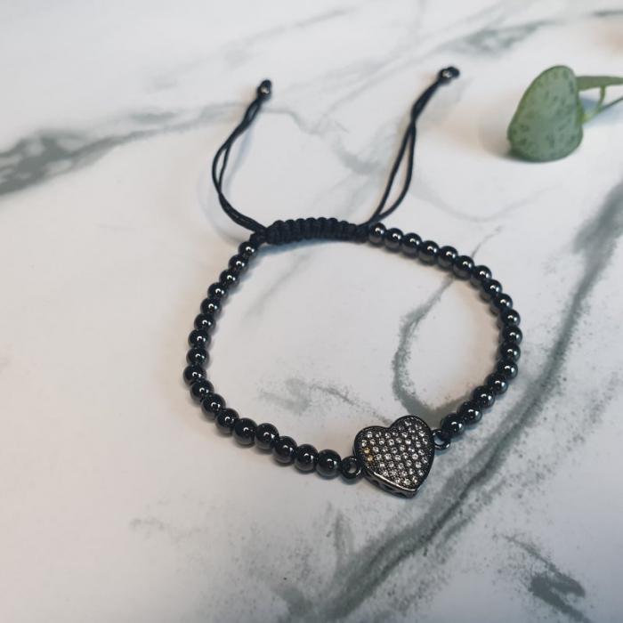 Bratara handmade cu charm inima [2]