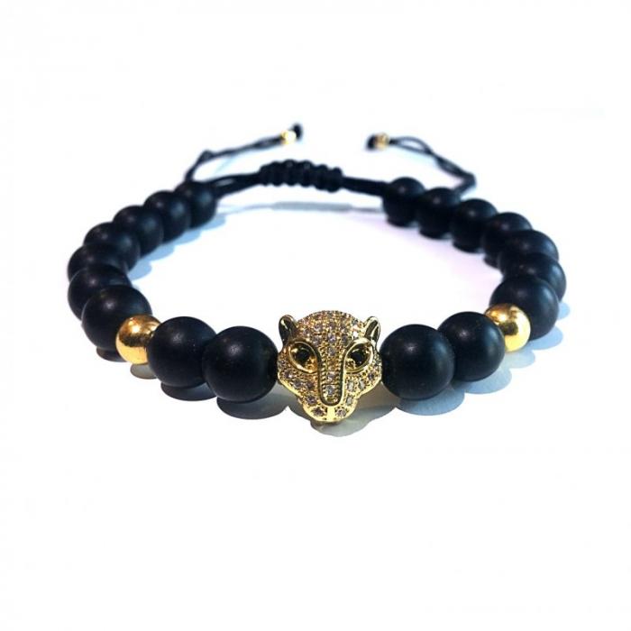 Bratara Leopard gold 1