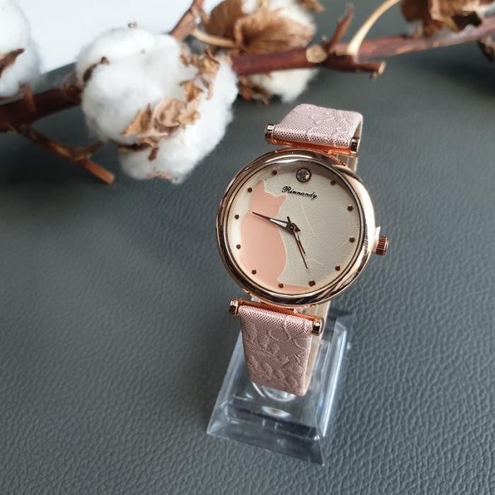 ceas cu pisica si curea din piele ecologica [2]