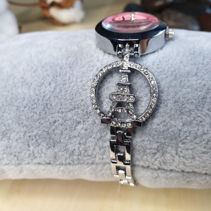 ceas dama turnul Eiffel cu bratara metalica model cu turnul eiffel 2