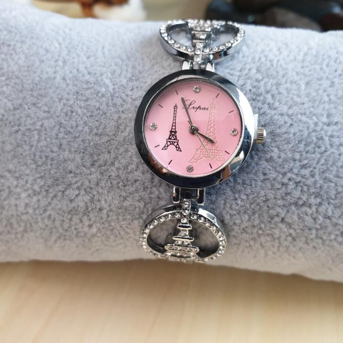 ceas dama turnul Eiffel cu bratara metalica model cu turnul eiffel 0