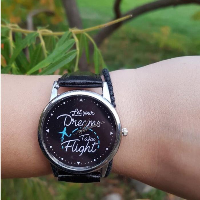 Ceas mesaj Let your dreams take flight [0]