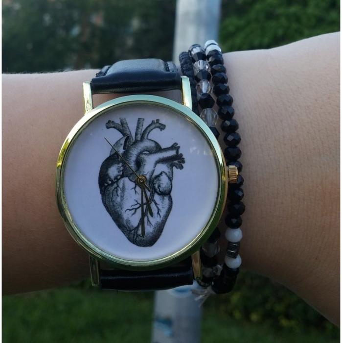 Ceas dama anatomia inimi curea piele 1