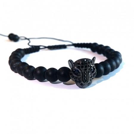 Bratara leopard black1