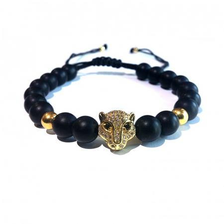 Bratara Leopard Gold1