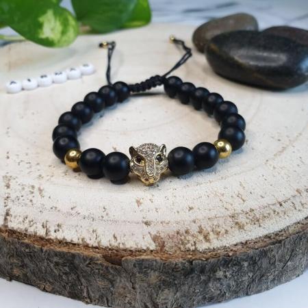 Bratara Leopard gold
