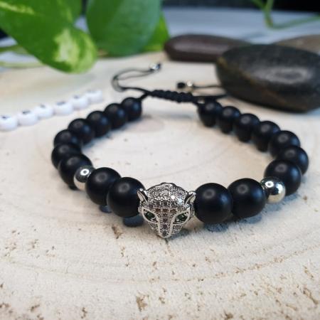 Bratara leopard handmade1
