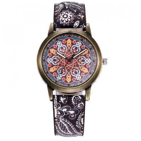 Ceas dama, mozaic, curea model floral1