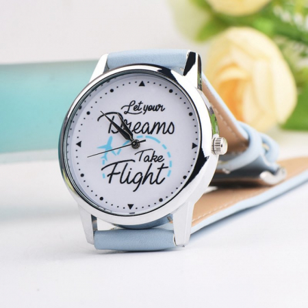 "Ceas mesaj ""Let your dreams take flight""2"