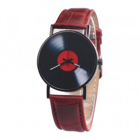 ceas vinil imprimat pe cadran