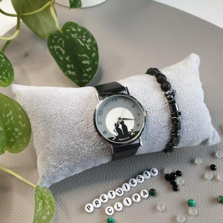 Ceas dama cu pisici, mecanism quartz, ceas femei [3]