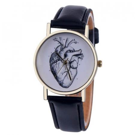 Ceas unisex elegant anatomia inimii0