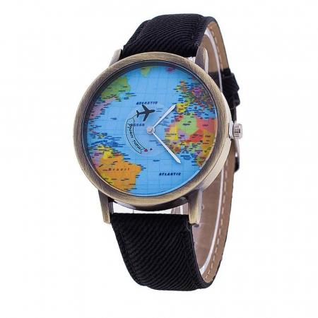 Ceas harta lumii, vazuta din avion1