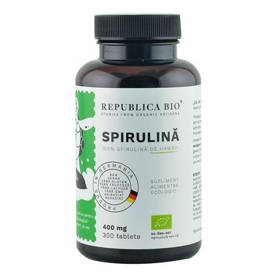 Spirulina Ecologica de Hawaii (400 mg) Republica BIO, 300 tablete 0