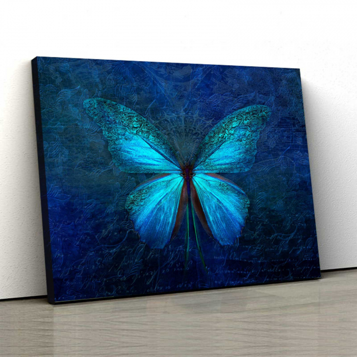 Tablou Canvas - Blue Butterfly 0