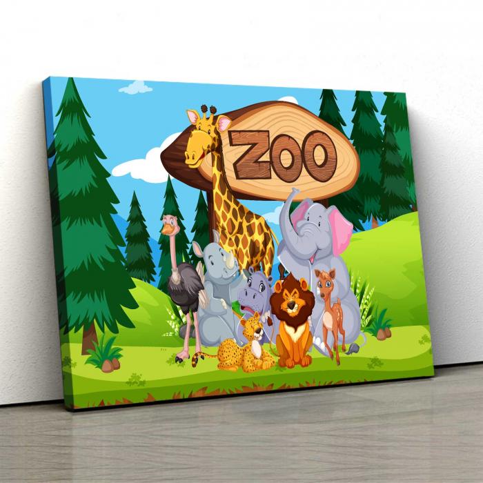 Tablou Canvas Copii - Zoo 0