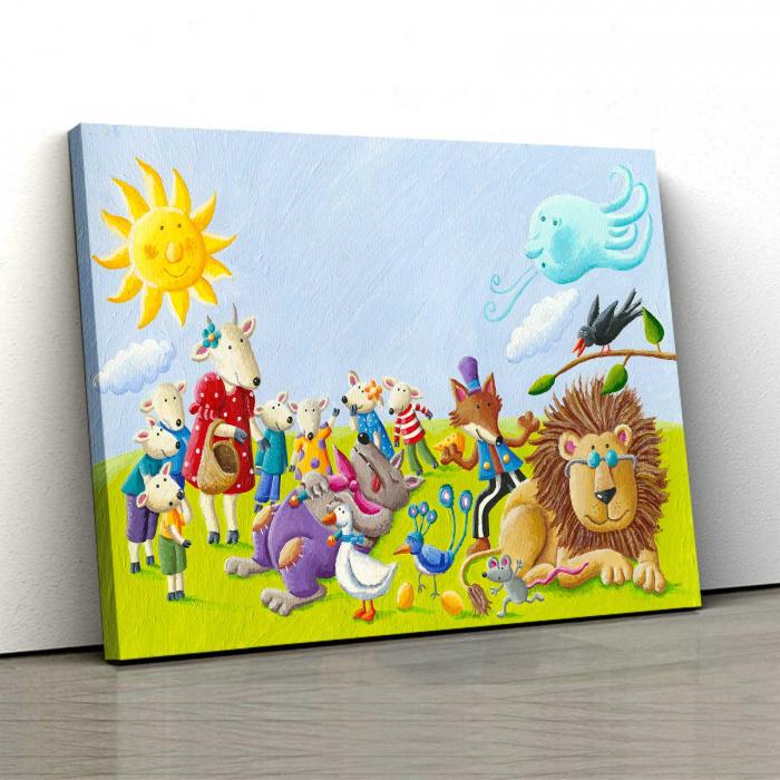 tablou-canvas-copii-animals-paint 0