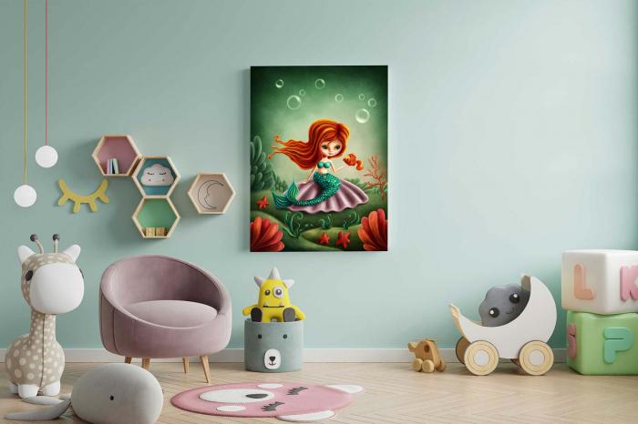 Tablou Canvas Copii - Mica Sirena [2]