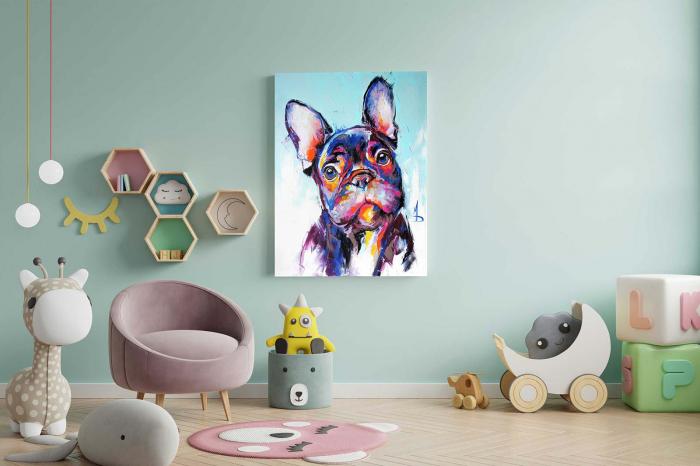 Tablou Canvas Copii - Neon Dog [2]