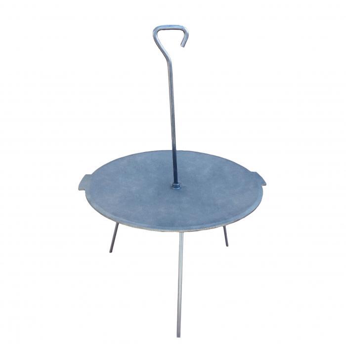 Disc gratar, pentru picnic, fonta, D 38 cm, cu 3 picioare din otel [0]