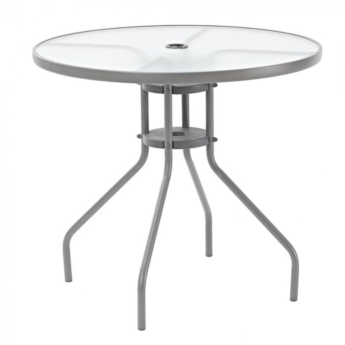 Masa pentru 2 persoane, 80 x 80 x 88 cm, gri [0]