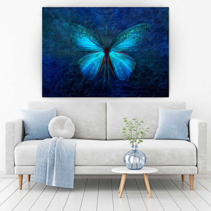 Tablou Canvas - Blue Butterfly 1
