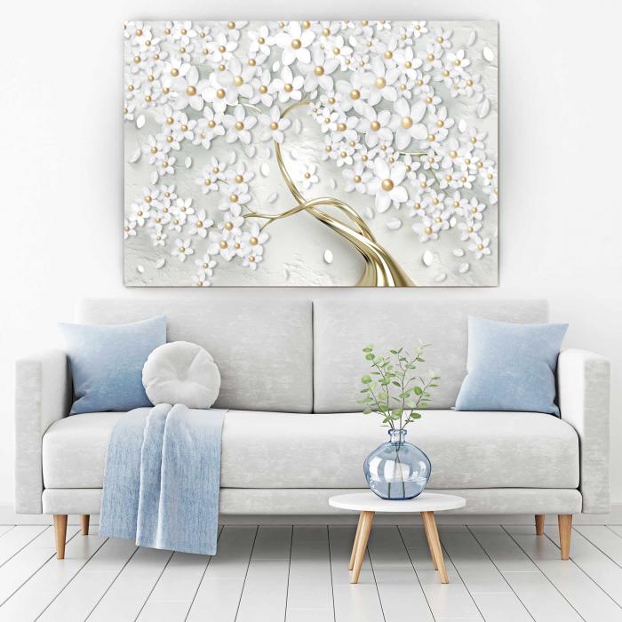 Tablou-canvas-copac-cu-flori-albe 1