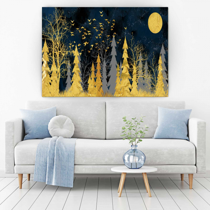 Tablou Canvas - Gold Tree 1