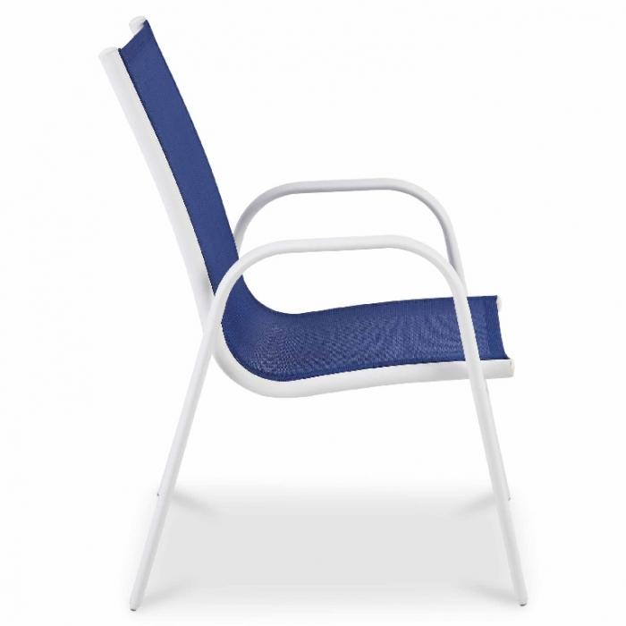 Scaun pentru copii, albastru, otel si poliester, 51 x 43 x 70 cm [1]