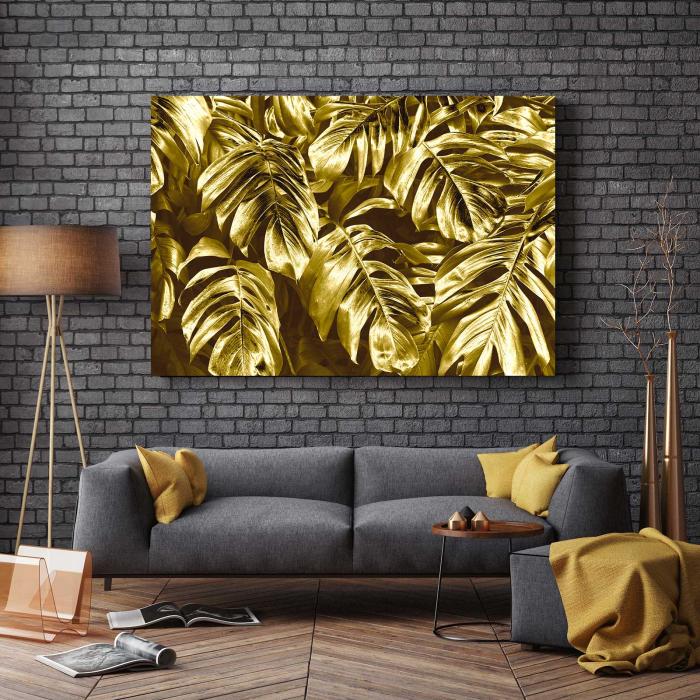 Tablou Canvas - Gold Leaves 2