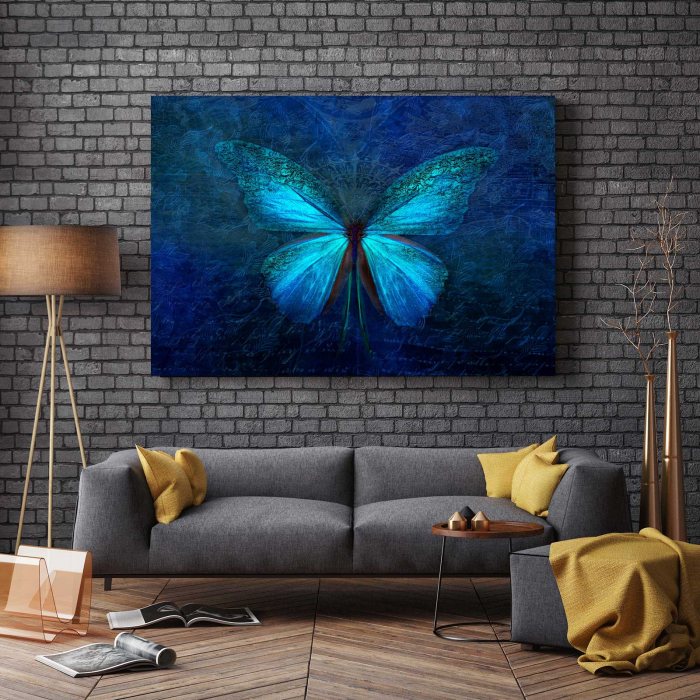 Tablou Canvas - Blue Butterfly 2