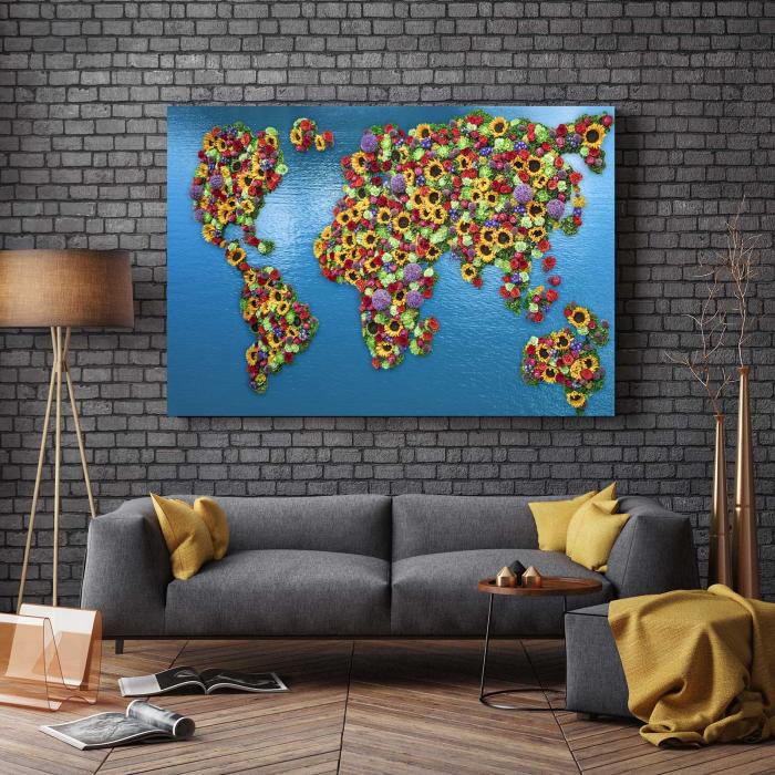 Tablou Canvas - Flowers Map 2