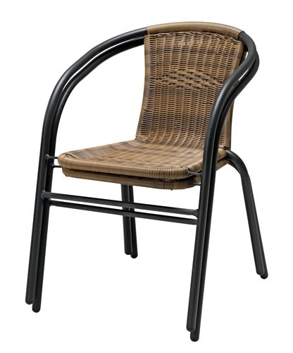 Set masa neagra + 2 scaune nature [2]
