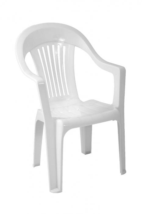 Scaun plastic, alb [0]