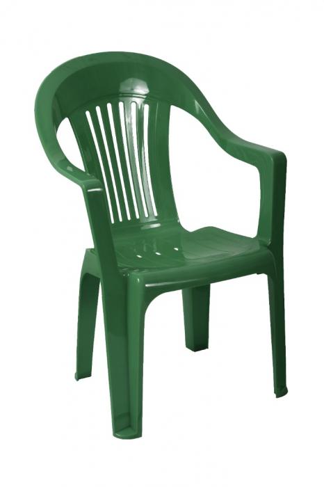 Scaun plastic, verde [0]