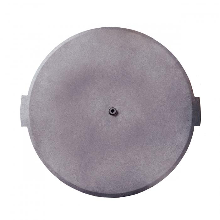Disc gratar, pentru picnic, fonta, D 38 cm, cu 3 picioare din otel [1]