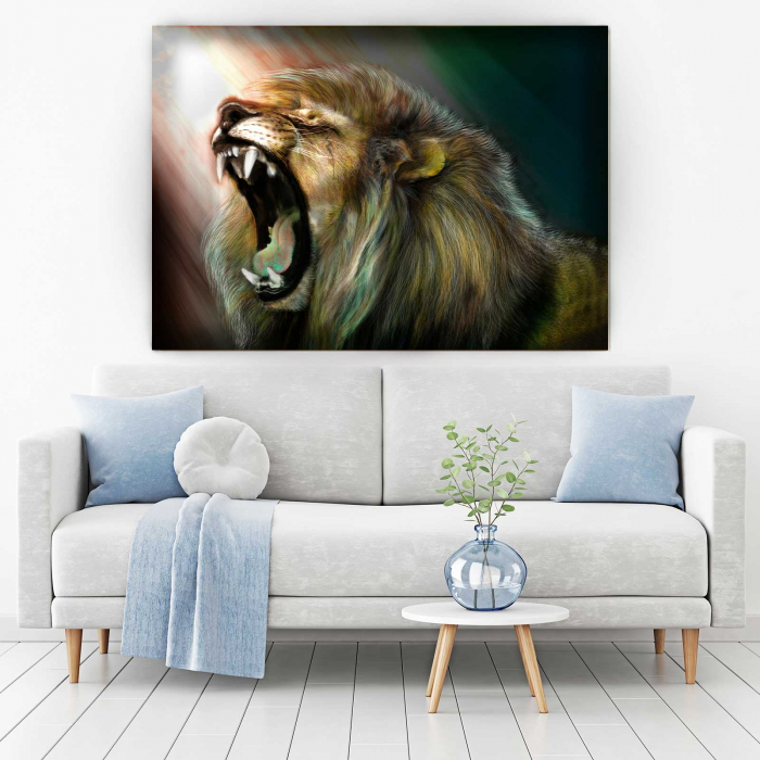 Tablou Canvas - Angry Lion [1]