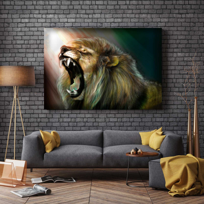 Tablou Canvas - Angry Lion [2]