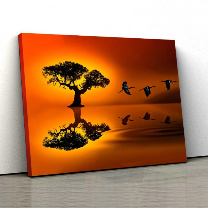 Tablou Canvas - Birds At Sunset [0]