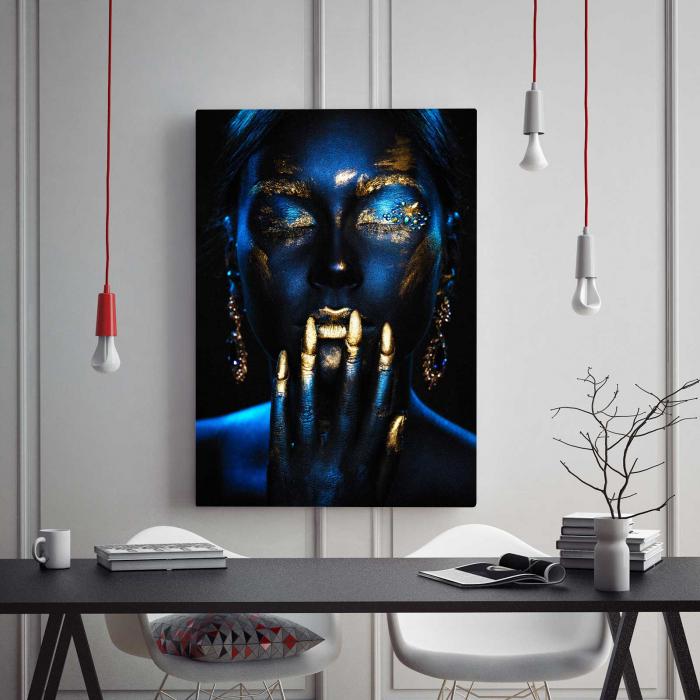 Tablou Canvas - Blue Girl [1]