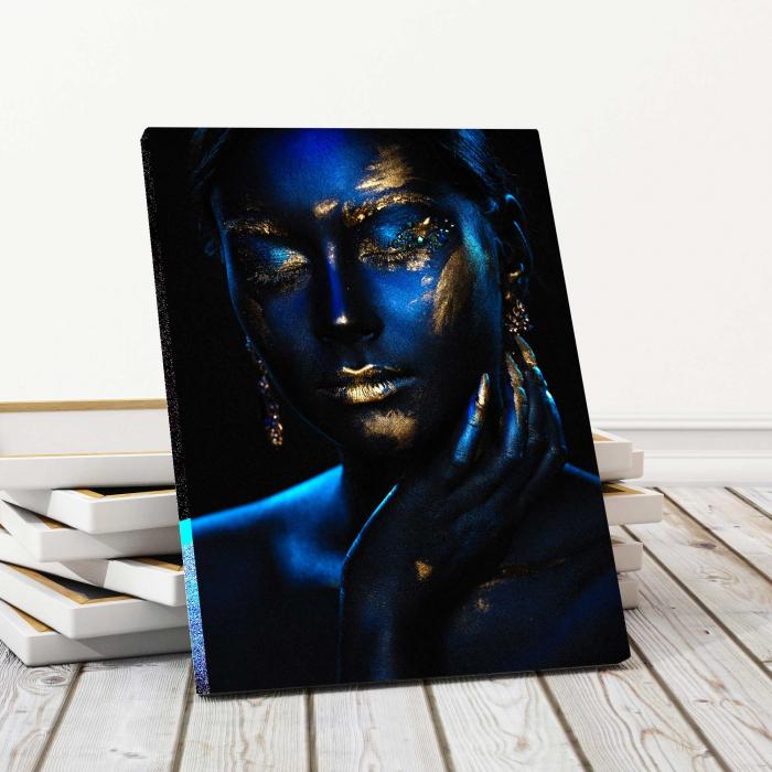 Tablou Canvas - Blue & Gold 0