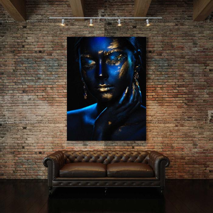 Tablou Canvas - Blue & Gold 2