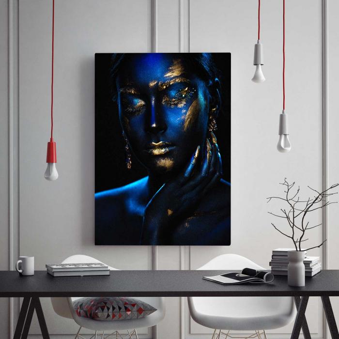 Tablou Canvas - Blue & Gold 1